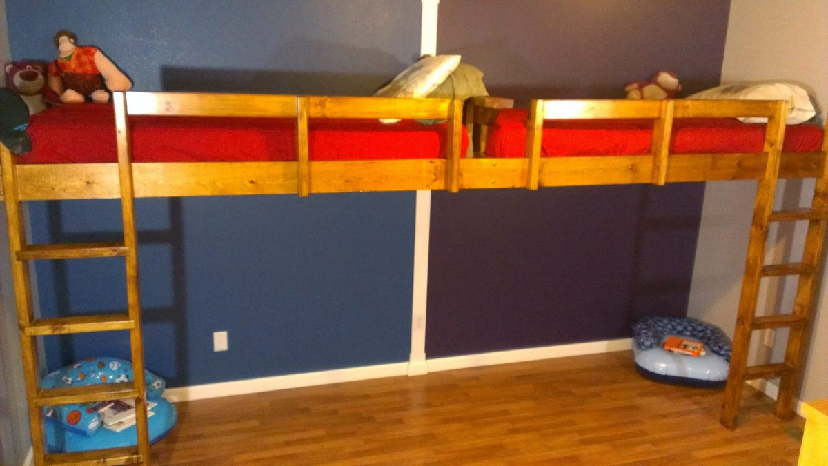 How To Build A Super Fun End To End Loft Bed For Kids